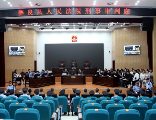 永善县首例扫黑除恶案件开庭审理